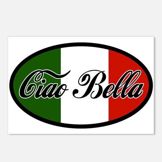 ciao-bella-OVAL2.png Postcards (Package of 8)