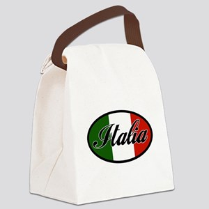 italia-OVAL Canvas Lunch Bag