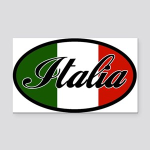 italia-OVAL Rectangle Car Magnet