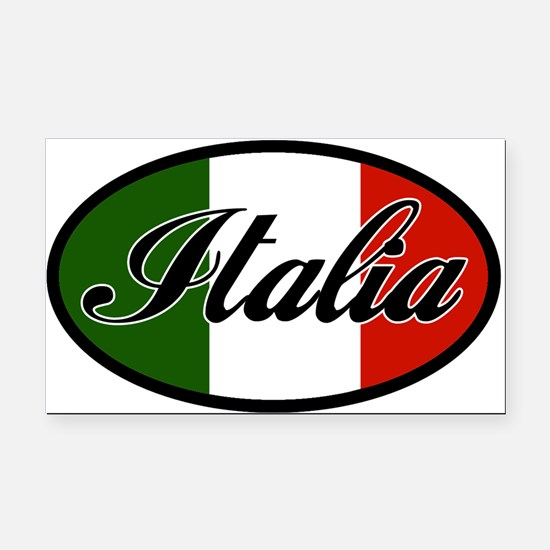 italia-OVAL.png Rectangle Car Magnet