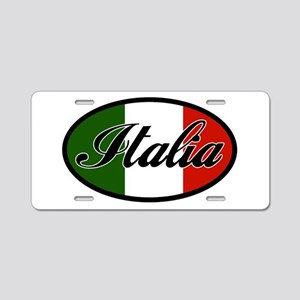 italia-OVAL Aluminum License Plate