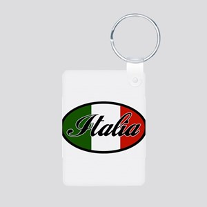 italia-OVAL Aluminum Photo Keychain
