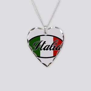 italia-OVAL Necklace Heart Charm