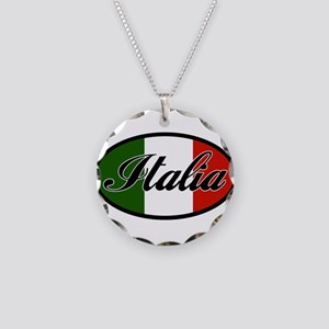 italia-OVAL Necklace Circle Charm