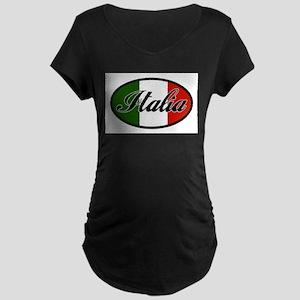 italia-OVAL Maternity Dark T-Shirt