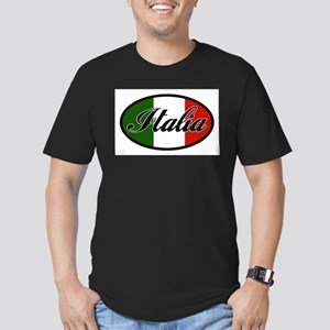 italia-OVAL Men's Fitted T-Shirt (dark)