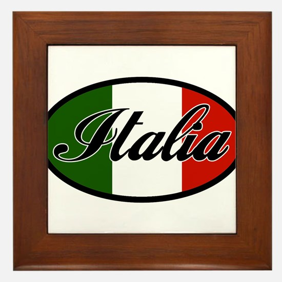 italia-OVAL.png Framed Tile