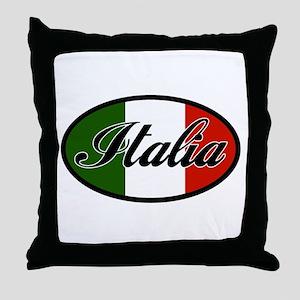 italia-OVAL Throw Pillow