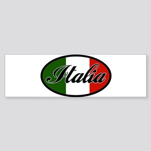 italia-OVAL Sticker (Bumper)