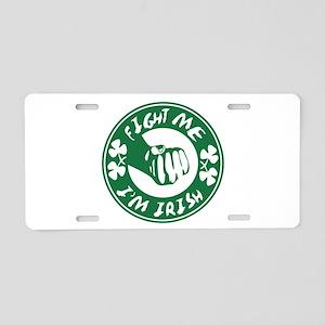 fightme-irish Aluminum License Plate