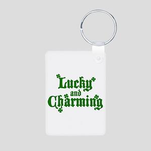 Lucky & Charming Aluminum Photo Keychain