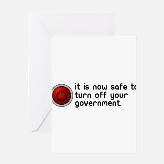 anti government Greeting Card