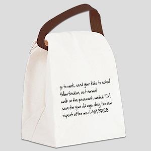 I am Free Canvas Lunch Bag