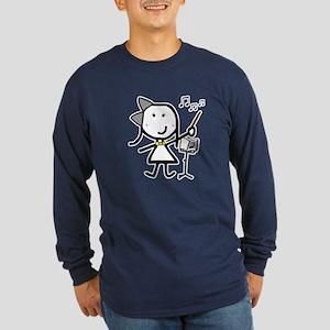 Girl & Conductor Long Sleeve Dark T-Shirt