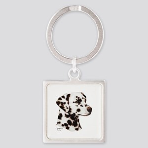 Dalmatian Square Keychain