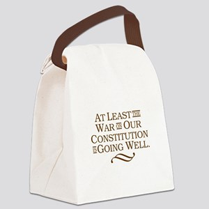 War on Constitution Canvas Lunch Bag