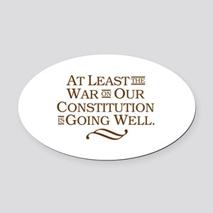War on Constitution Oval Car Magnet