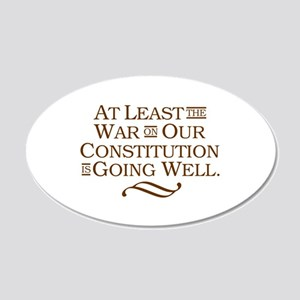 War on Constitution 20x12 Oval Wall Decal