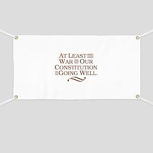 War on Constitution Banner