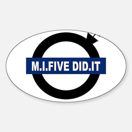 london-mi5-white.png Sticker (Oval)