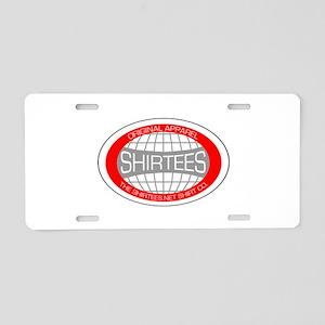 shirtees-globe-w Aluminum License Plate