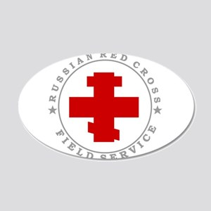 russian-cross-w.png 20x12 Oval Wall Decal
