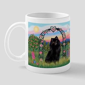 Rose arbor & Schipperke Mug