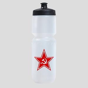 soviet-star-white-w Sports Bottle