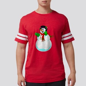 Snowman On A Cell Phone T-Shirt