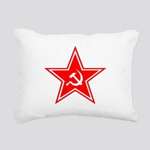 soviet-star-white-w Rectangular Canvas Pillow