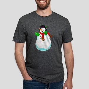 Snowman On A Cell Phone T-Shirt