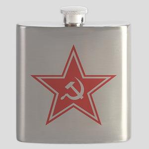 soviet-star-white-w Flask
