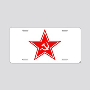 soviet-star-white-w Aluminum License Plate