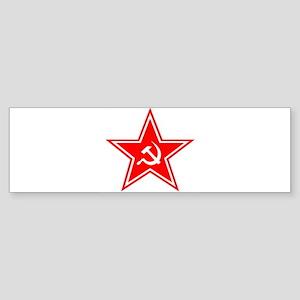 soviet-star-white-w Sticker (Bumper)