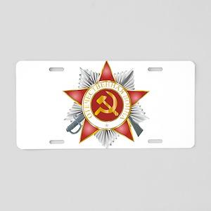 orden_otechestvenaya Aluminum License Plate