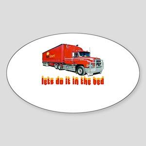 truck-n-w Sticker (Oval)