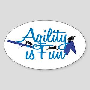 Agility is Fun Sticker (Oval)