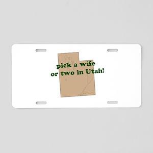 wifeinutah Aluminum License Plate