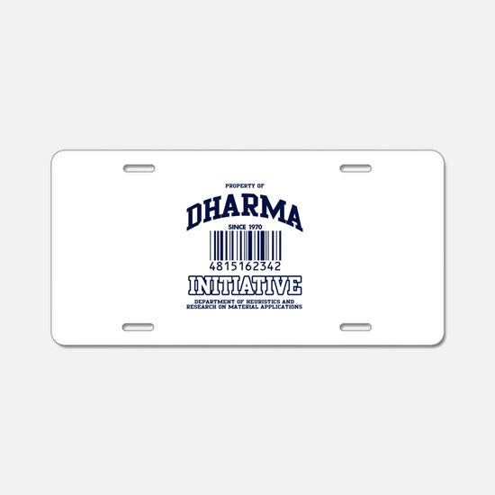 dharma-gear-w.png Aluminum License Plate