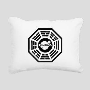 3-dharma-karma Rectangular Canvas Pillow