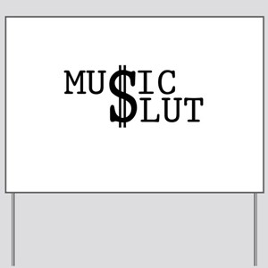 music-slt-w Yard Sign