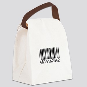 barcode-w Canvas Lunch Bag