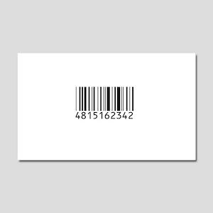 barcode-w Car Magnet 20 x 12