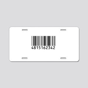 barcode-w Aluminum License Plate