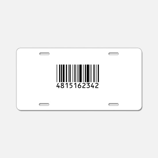 barcode-w.png Aluminum License Plate
