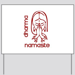 my-namaste-w Yard Sign