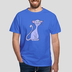 Periwinkle Blue Cat Dark T-Shirt