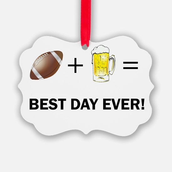 Football and Beer Ornament