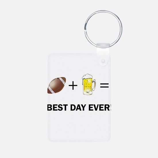 Football and Beer Keychains