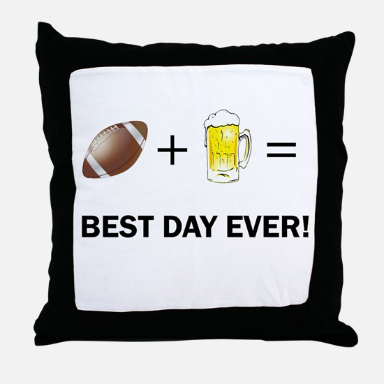 Football and Beer Throw Pillow